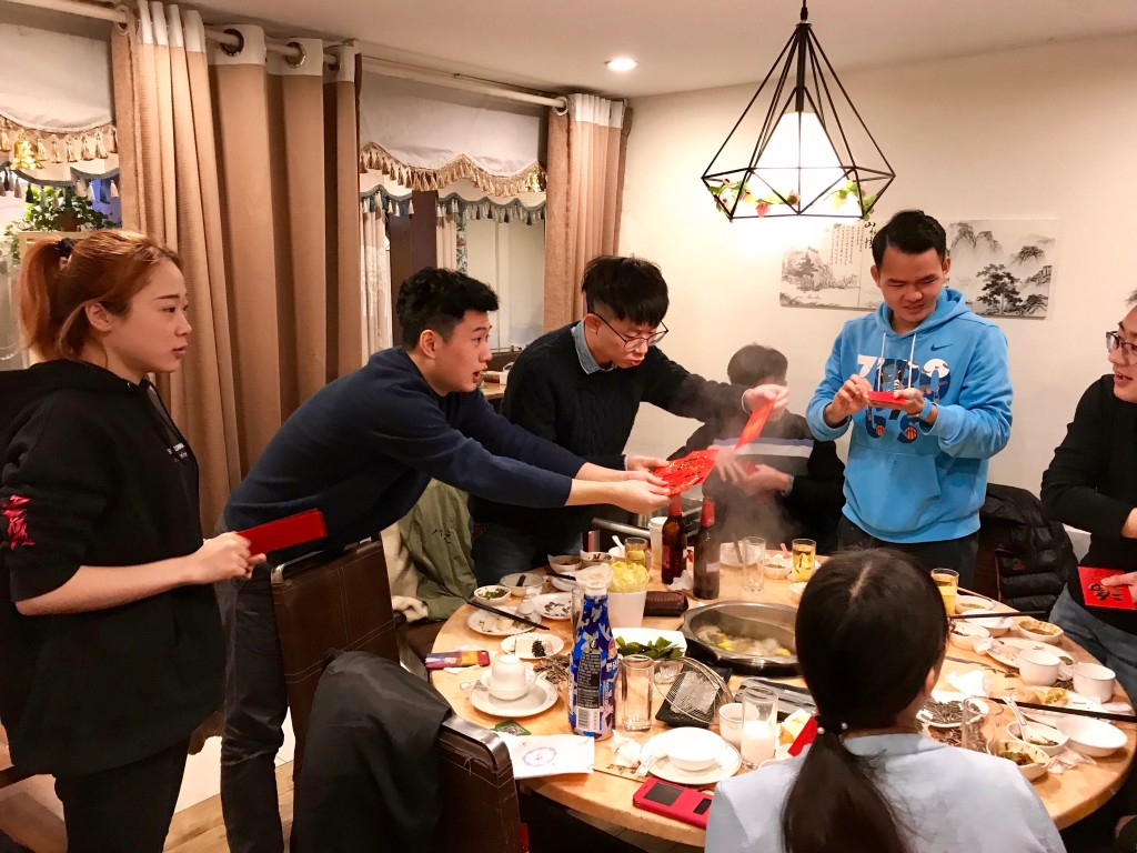 hotpot and lucky draw at the end of 2017