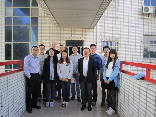 Dr. Crooks' first visit to China @ Southeast Univ with our group members