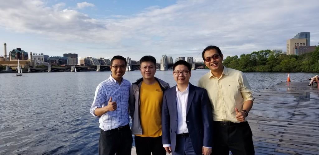 At Charles River with Professors